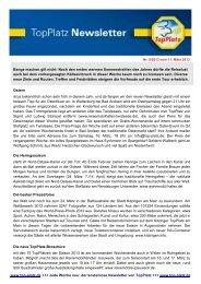Newsletter vom 11.3.2013 - Top-Platz