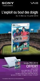 Bulletin VAIO -PES2010_Offres Mai2010_100x200.indd - Top Achat