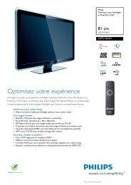 32PFL7603H/10 Philips Téléviseur avec Ambilight et ... - Top Achat