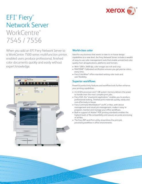 EFI® Fiery® Network Server WorkCentre® 7545 / 7556 - Top
