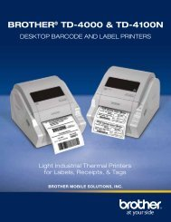BROTHER® TD-4000 & TD-4100N - Top Edge Engineering