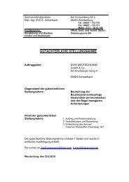 GUTACHTERLICHE STELLUNGNAHME - FOPPE und FOPPE