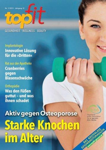 Aktiv gegen Osteoporose - topfit-gesund