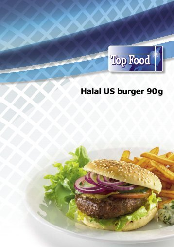 Halal US burger 90g - TOP FOOD A/S