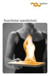 feuerfester wandschutz - topform mössenböck gmbh
