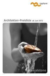 Mineralstone (Polyester-/ Acrylharzbasis) - TOPFORM