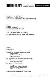 Die Firma Topf & Söhne und das Konzentrationslager Buchenwald