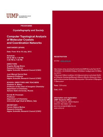 Computer Topological Analysis of Molecular Crystals and ... - topos
