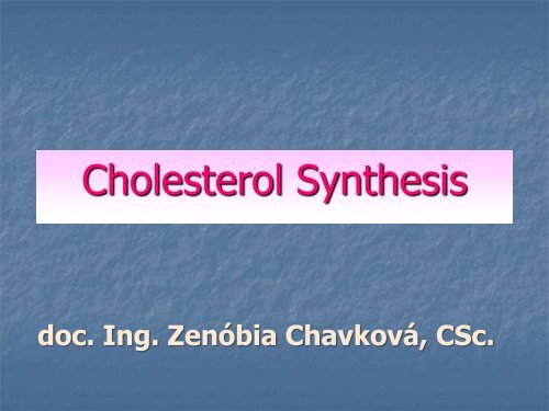 Cholesterol Synthesis - TOP Recommended Websites