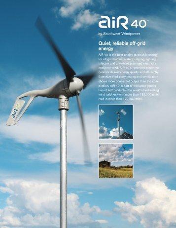 Quiet, reliable off-grid energy - Top Solar