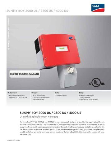 sunny boy 1200 1700 2500 3000 solar juice. Black Bedroom Furniture Sets. Home Design Ideas