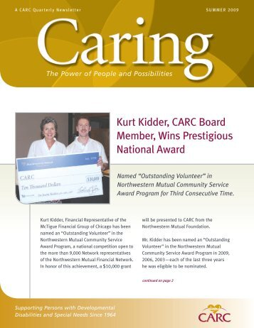 Kurt Kidder, CARC Board Member, Wins Prestigious National Award
