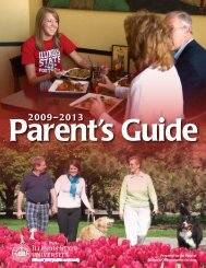 Parent's Guide - Dean of Students - Illinois State University