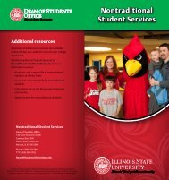 Nontraditional Student Services - Dean of Students - Illinois State ...