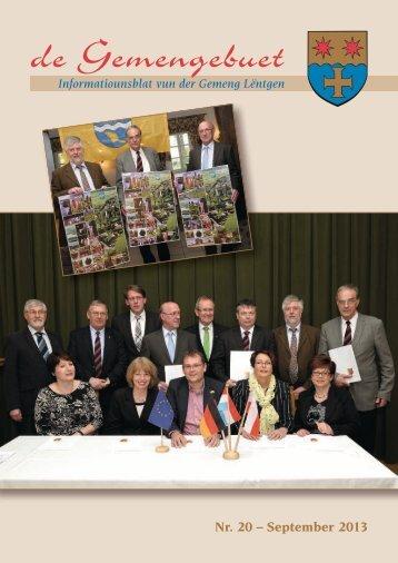 Septembre 2013 - Administration Communale de Lintgen