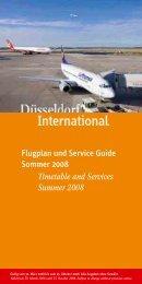 Flugplan und Service Guide Sommer 2008 - Düsseldorf