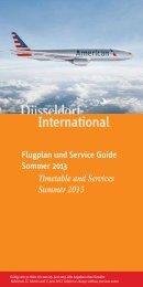 Flugplan und Service Guide Sommer 2013 - Düsseldorf