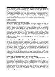 Projekte der Bildungsregion - Landkreis Neu-Ulm