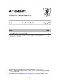 Amtsblatt Nr. 24 vom 12. Juli 2013 (1.05 MB) - Landkreis Neu-Ulm