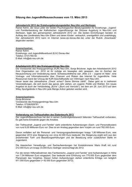 Sitzungsbericht vom 13.03.2013 - Landkreis Neu-Ulm