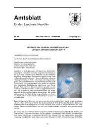 Amtsblatt Nr. 44 vom 21. Dezember 2012 - Landkreis Neu-Ulm