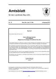 Amtsblatt Nr. 19 vom 31. Mai 2013 (1.48 MB) - Landkreis Neu-Ulm