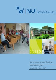 """""""Bildungsregion Landkreis Neu-Ulm"""" Bewerbung für das Zertifikat"""