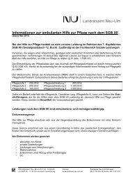 Infoblatt zur ambulanten Hilfe zur Pflege - Landkreis Neu-Ulm