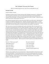 2010-12 Trip Report - St. Joseph Parish