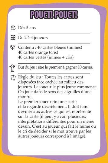 Règle Pouet Pouet OK.indd - Eveil et jeux