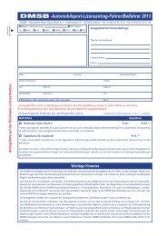 C-Lizenzantrag DMSB - Alles für den Kartsport