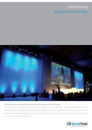 Dienstleistung Generalversammlungen - BLUETRAC