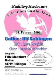 Flyer 2006 - der Heidelberg Hoedowners