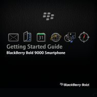 BlackBerry Bold 9000 Smartphone - Getting Started Guide