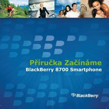 BlackBerry 8700 Smartphone - 4.5 - Příručka Začínáme - O2