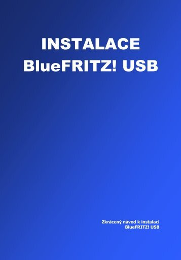 1 Instalace BlueFRITZ! USB - O2