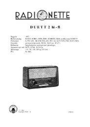 Radionette duett 2 hi-fi.rdo