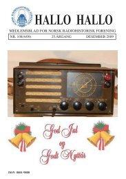 Omslag HH 108.pmd - Norsk Radiohistorisk Forening