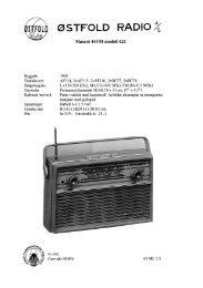 Page 1 . @sTFoLD RADIO ^S Mascot 44FM modell 621 101MHz ...
