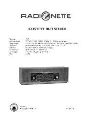 Radionette kvintett hifi stereo.rdo
