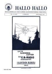 HALLO HALLQ - Norsk Radiohistorisk Forening