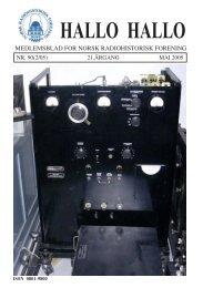 Omslag HH90(MAI 05) A4.pmd - Norsk Radiohistorisk Forening