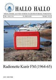 Omslag HH 109.pmd - Norsk Radiohistorisk Forening