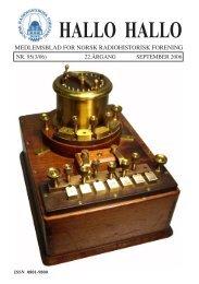 Vi erindrer - Norsk Radiohistorisk Forening
