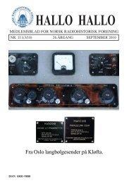 Omslag HH 111 A4 vesjon 2.pmd - Norsk Radiohistorisk Forening