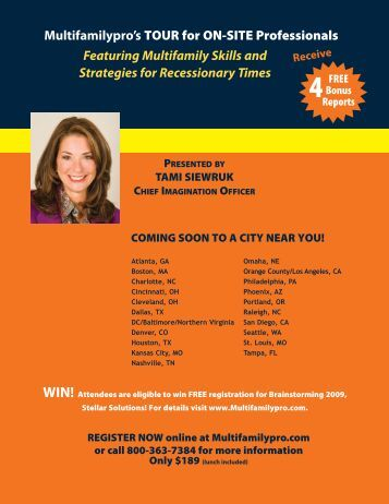 Multifamilypro's TOUR for ON-SITE Professionals Featuring ...