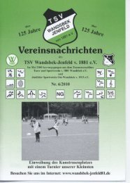 Vereinsnachrichten - TSV Wandsbek-Jenfeld, Supersenioren