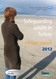 Safeguarding Adults Annual Report - Torbay Care Trust