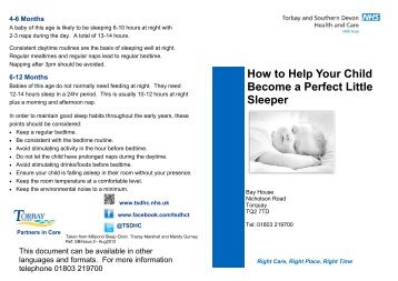 How to Help Your Child Become a Perfect Little ... - Torbay Care Trust