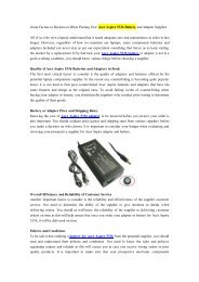 Great Factors to Reckon on When Picking Your Acer Aspire 5336 Battery and Adapter Supplier.pdf